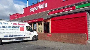 Super Value red shutter Santry Dublin