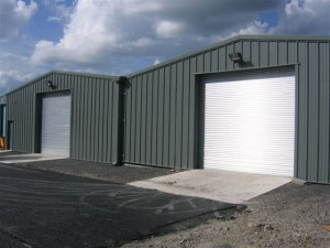 2 industrial roller shutters one site