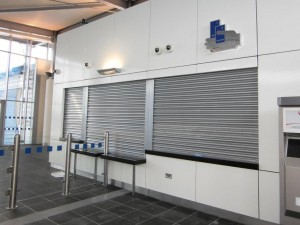 3 fire shutter on Irish Rail Ticket office