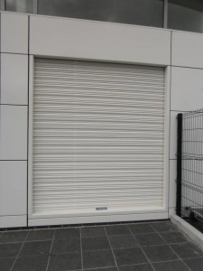 Roller shutter Irish Rail pace station