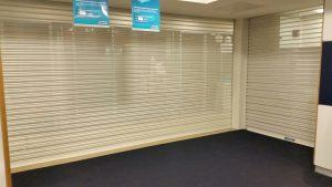 perforated roller shutter dublin Bank Site