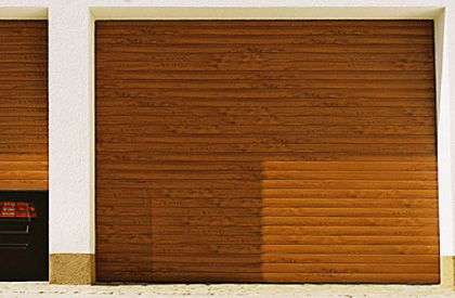 Gloden oak roller Door